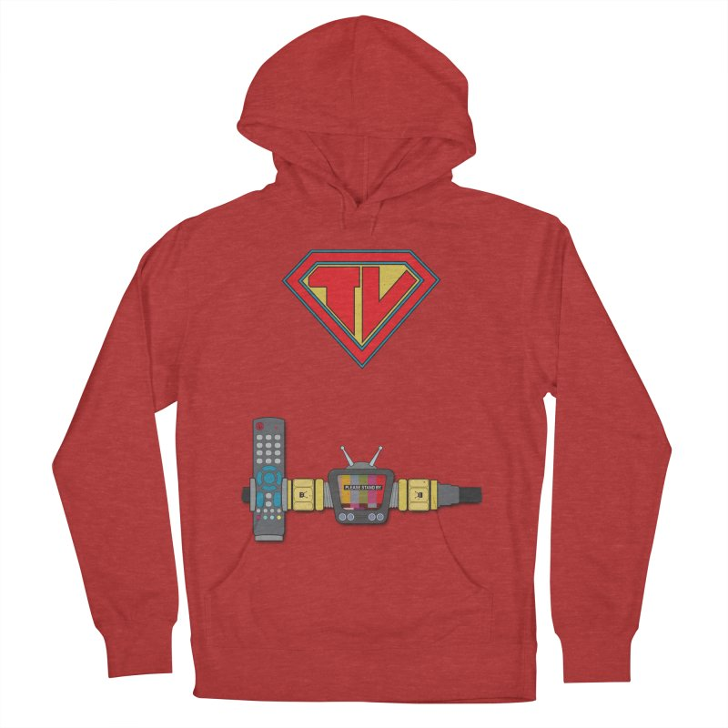 Super TV Man Women's Pullover Hoody by The Last Tsunami's Artist Shop