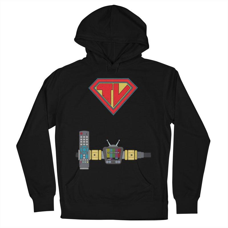 Super TV Man Women's Pullover Hoody by The Last Tsunami's Artist Shop