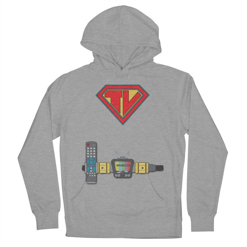 Super TV Man Men's French Terry Pullover Hoody by The Last Tsunami's Artist Shop