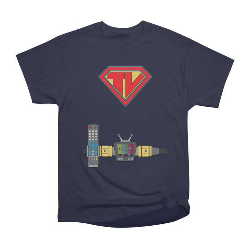 Super TV Man Women's Classic Unisex T-Shirt by The Last Tsunami's Artist Shop