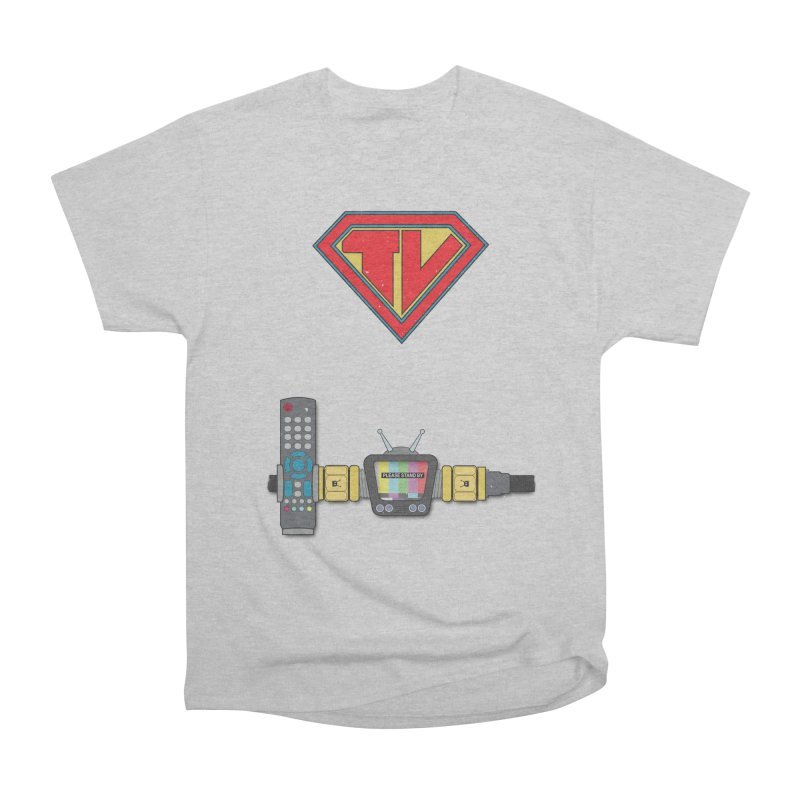 Super TV Man Men's Heavyweight T-Shirt by The Last Tsunami's Artist Shop
