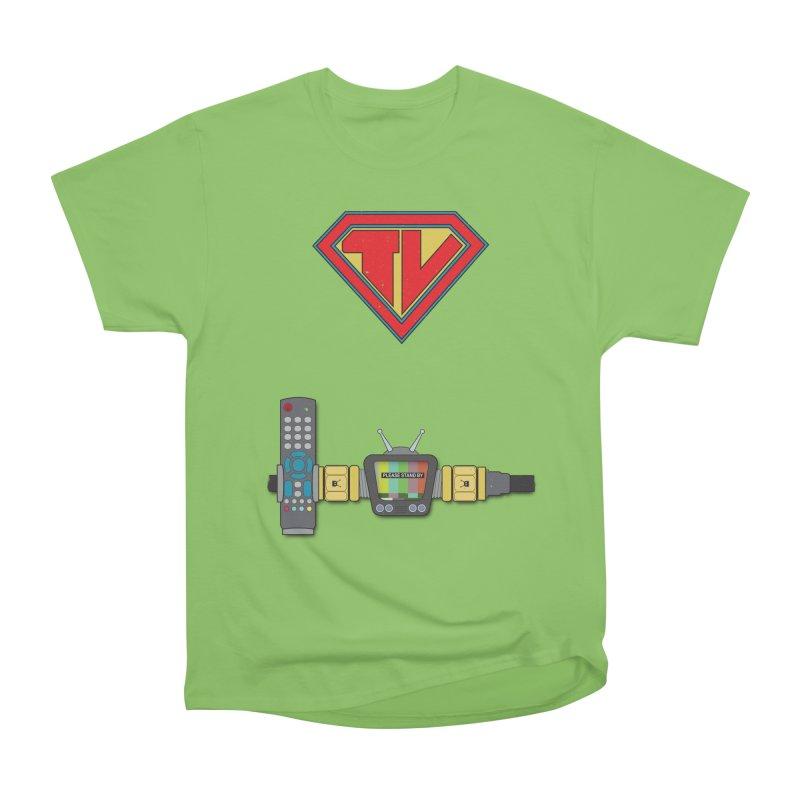 Super TV Man Women's Heavyweight Unisex T-Shirt by The Last Tsunami's Artist Shop
