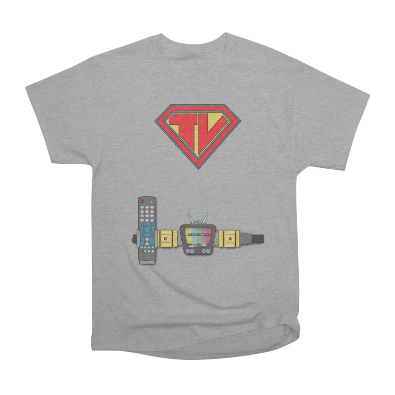 Super TV Man Women's Heavyweight Unisex T-Shirt by The Last Tsunami's Artist Shop