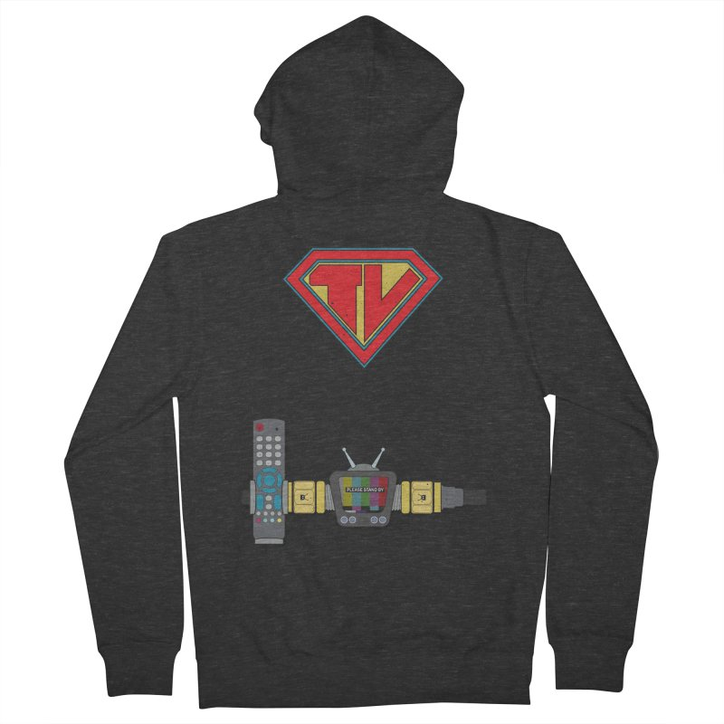 Super TV Man Men's Zip-Up Hoody by The Last Tsunami's Artist Shop
