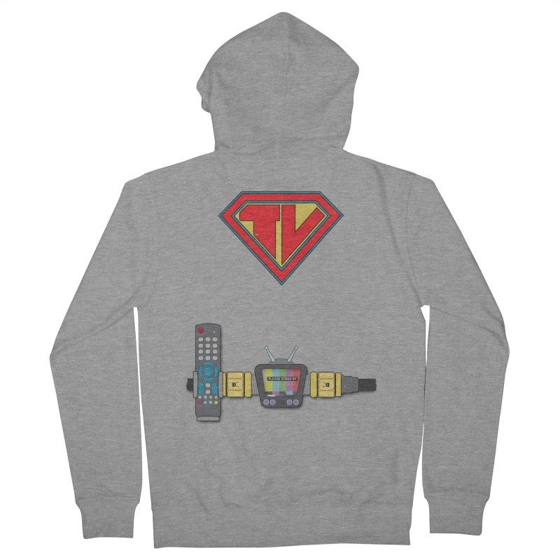 Super TV Man Men's Zip-Up Hoody by The Last Tsunami's Artist Shop