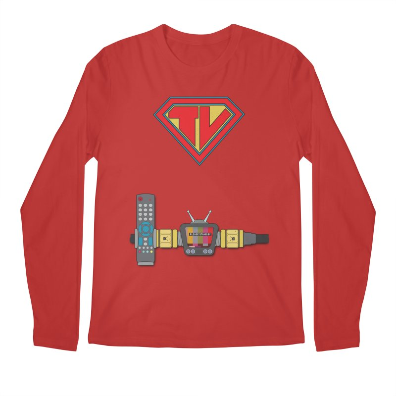 Super TV Man Men's Regular Longsleeve T-Shirt by The Last Tsunami's Artist Shop