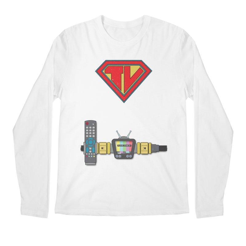 Super TV Man Men's Regular Longsleeve T-Shirt by The Last Tsunami's Artist Shop