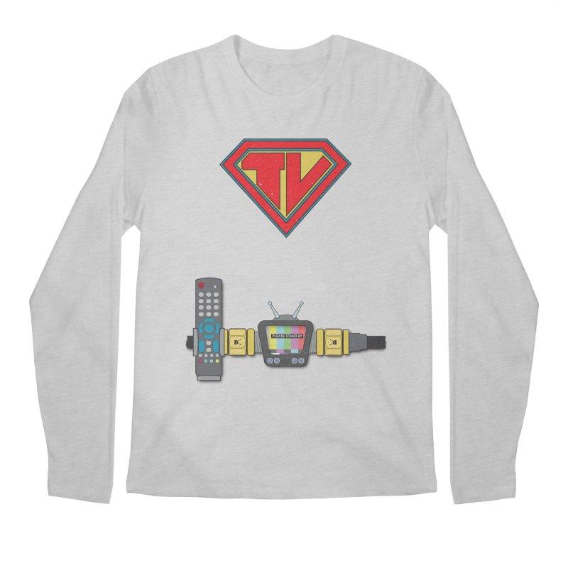 Super TV Man Men's Longsleeve T-Shirt by The Last Tsunami's Artist Shop