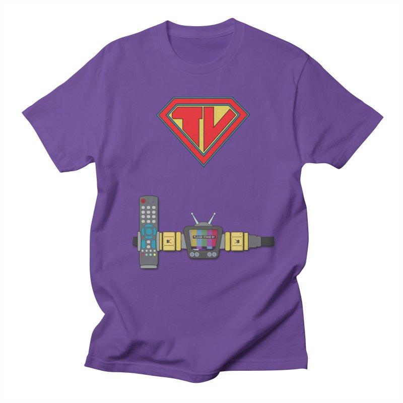 Super TV Man Men's Regular T-Shirt by The Last Tsunami's Artist Shop