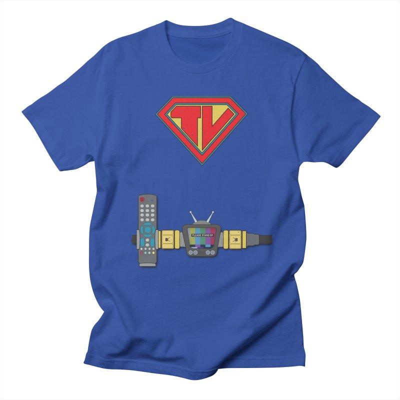 Super TV Man Women's Regular Unisex T-Shirt by The Last Tsunami's Artist Shop