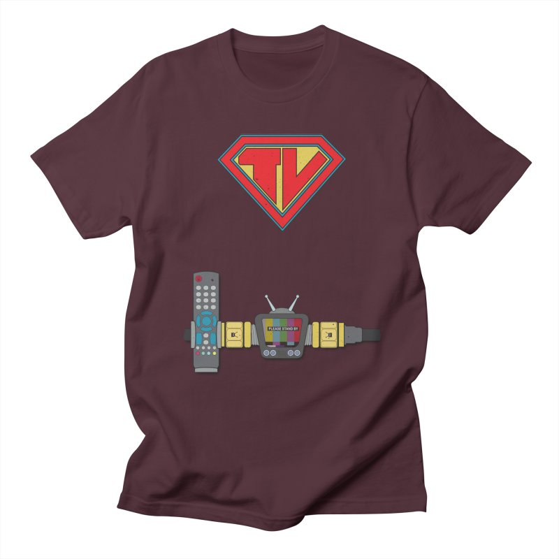 Super TV Man Women's Unisex T-Shirt by The Last Tsunami's Artist Shop
