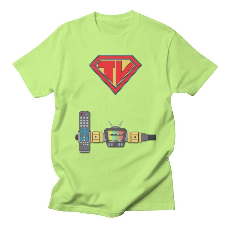 Super TV Man Women's Unisex T-Shirt by The Last Tsunami's Artist Shop