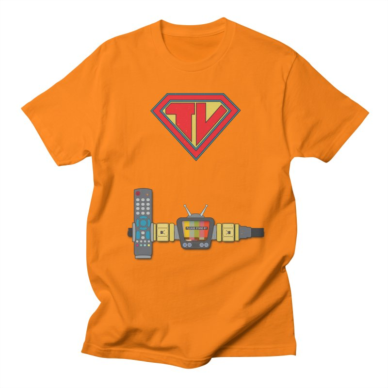 Super TV Man Men's T-Shirt by The Last Tsunami's Artist Shop