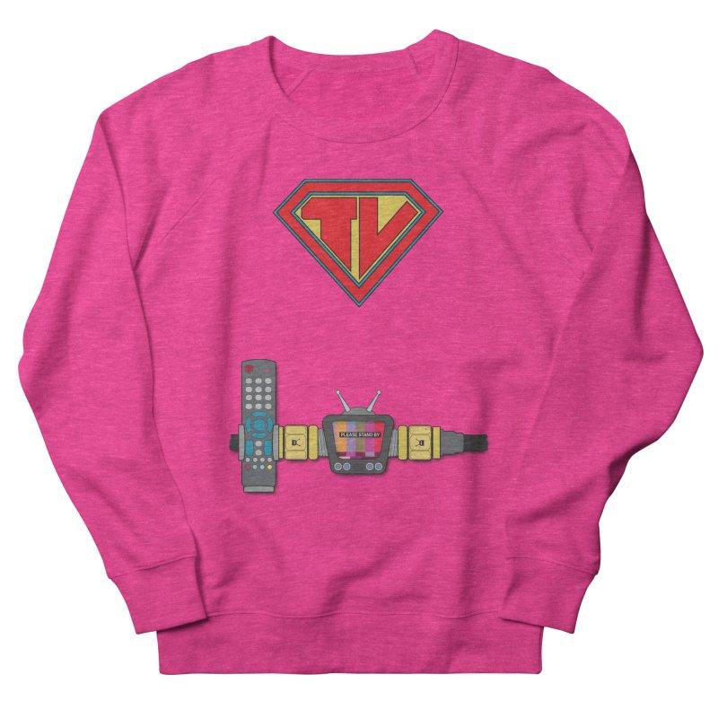 Super TV Man Women's Sweatshirt by The Last Tsunami's Artist Shop