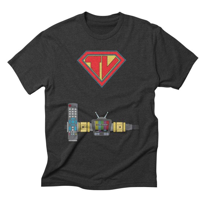 Super TV Man Men's Triblend T-shirt by The Last Tsunami's Artist Shop