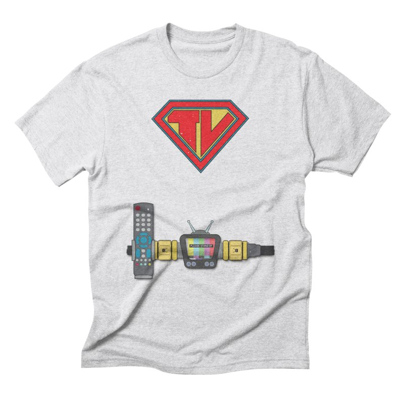 Super TV Man Men's Triblend T-Shirt by The Last Tsunami's Artist Shop