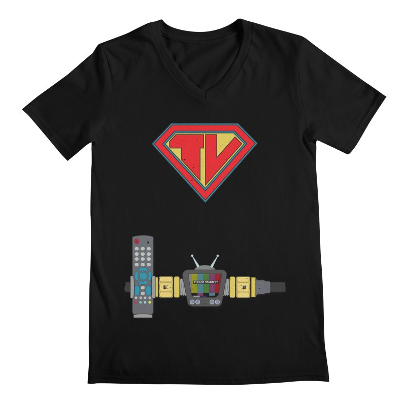 Super TV Man Men's V-Neck by The Last Tsunami's Artist Shop
