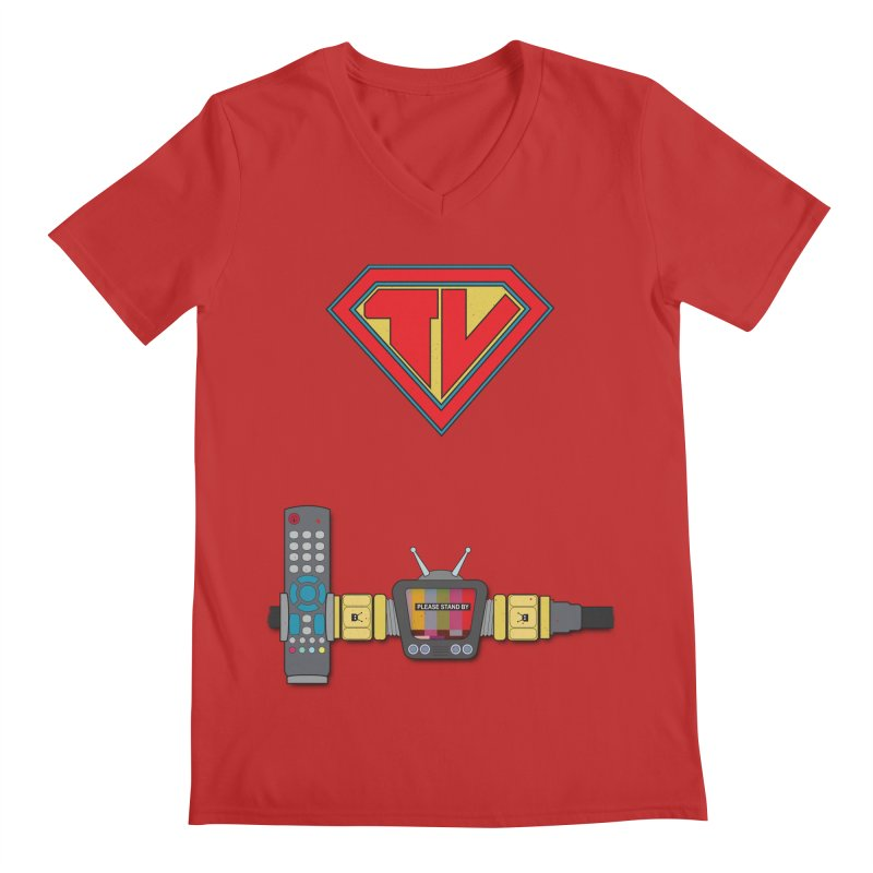 Super TV Man Men's V-Neck by The Last Tsunami's Artist Shop