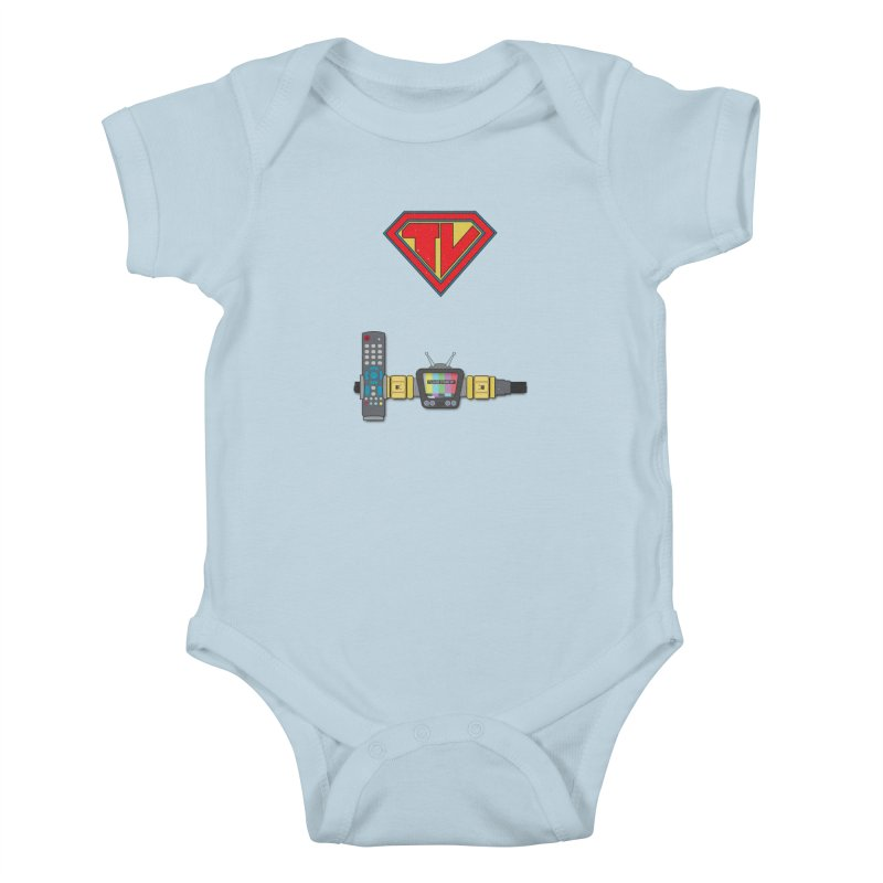 Super TV Man Kids Baby Bodysuit by The Last Tsunami's Artist Shop