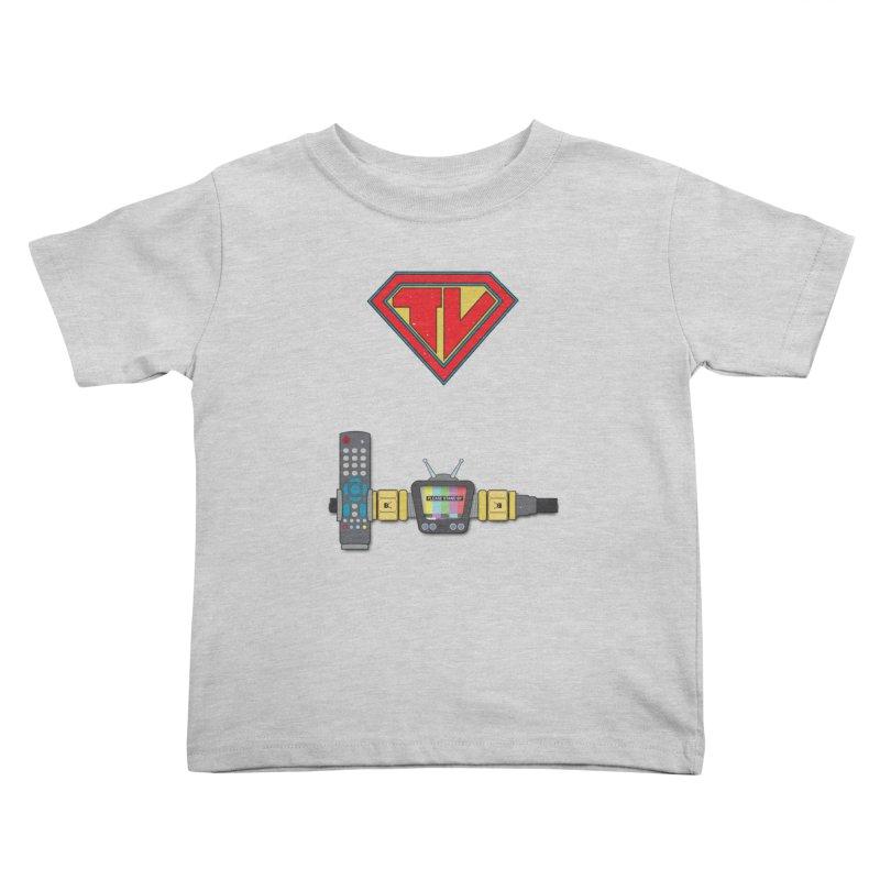 Super TV Man Kids Toddler T-Shirt by The Last Tsunami's Artist Shop