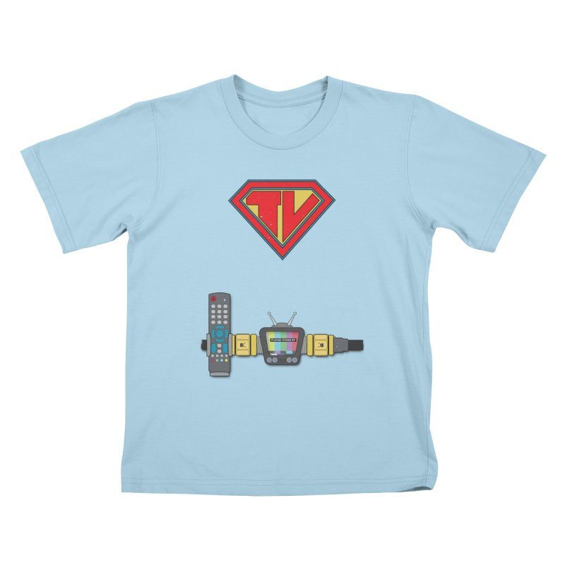Super TV Man Kids T-shirt by The Last Tsunami's Artist Shop