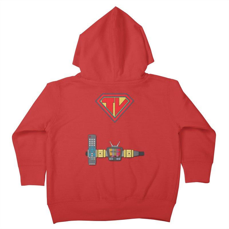 Super TV Man Kids Toddler Zip-Up Hoody by The Last Tsunami's Artist Shop
