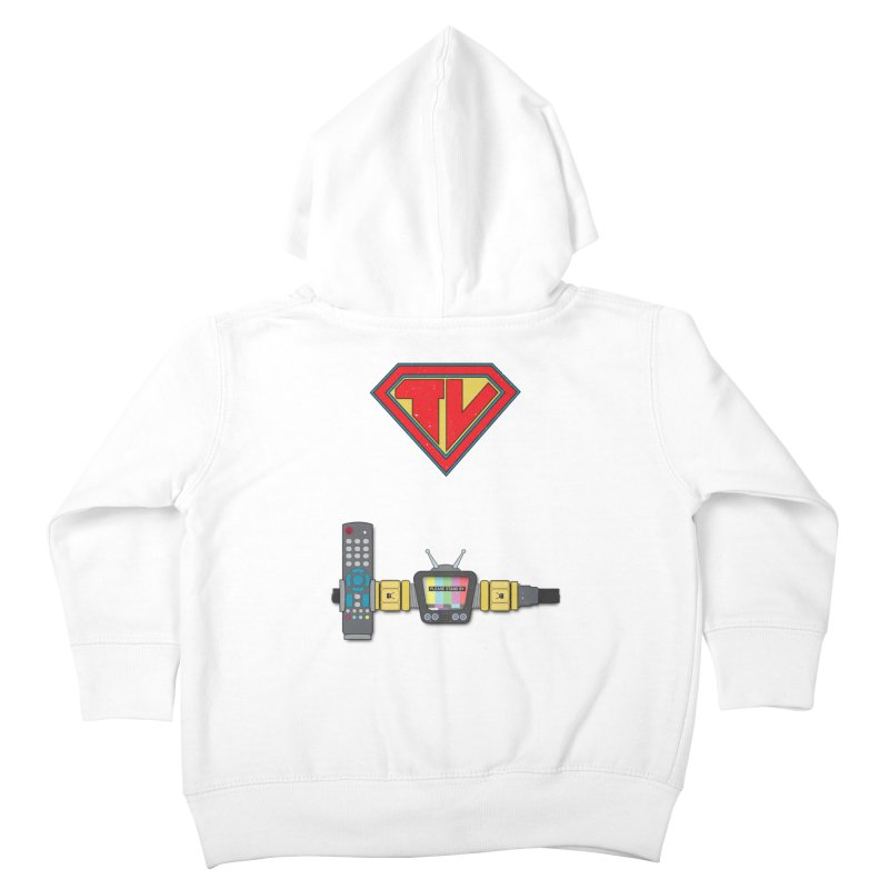 Super TV Man Kids Toddler Zip-Up Hoody by The Last Tsunami's Artist Shop
