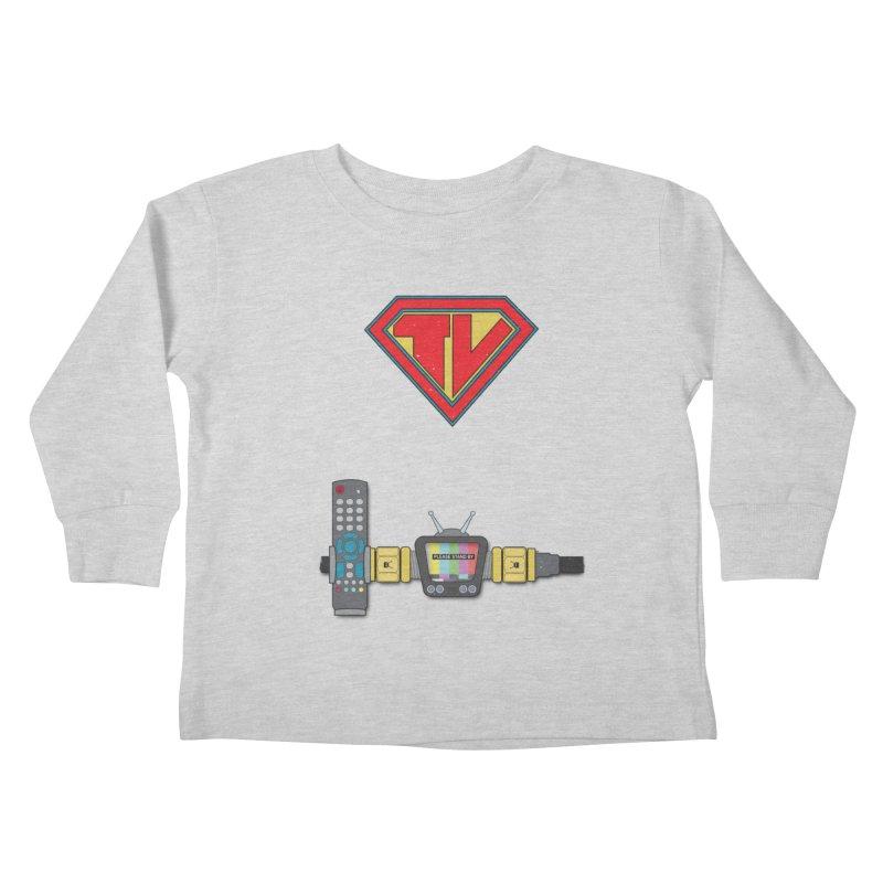 Super TV Man Kids Toddler Longsleeve T-Shirt by The Last Tsunami's Artist Shop