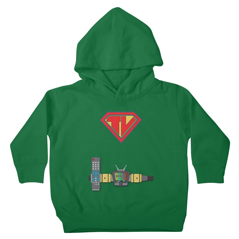 Super TV Man Kids Toddler Pullover Hoody by The Last Tsunami's Artist Shop