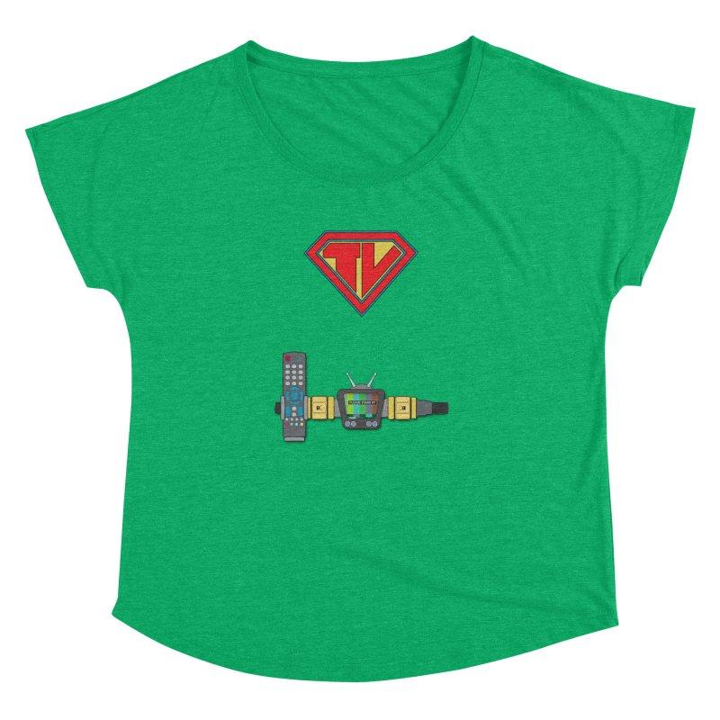 Super TV Man Women's Dolman by The Last Tsunami's Artist Shop