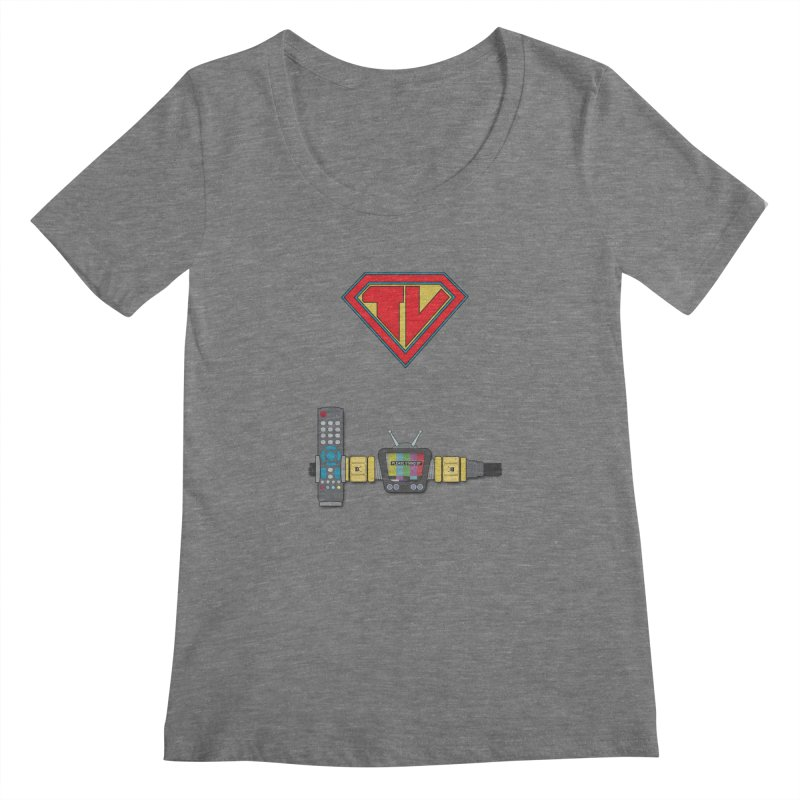 Super TV Man Women's Scoopneck by The Last Tsunami's Artist Shop