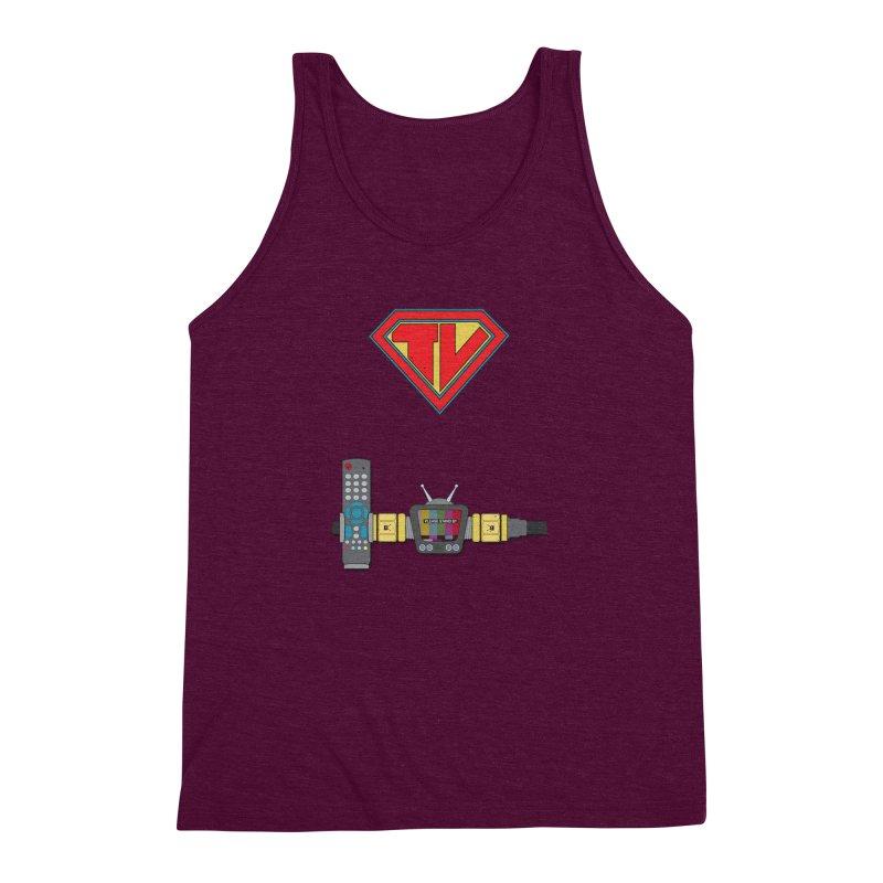Super TV Man Men's Triblend Tank by The Last Tsunami's Artist Shop