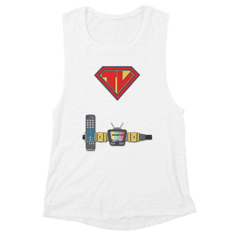 Super TV Man Women's Muscle Tank by The Last Tsunami's Artist Shop
