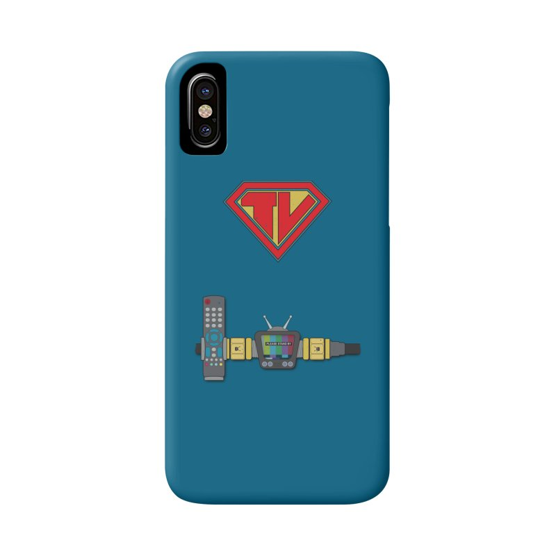 Super TV Man Accessories Phone Case by The Last Tsunami's Artist Shop