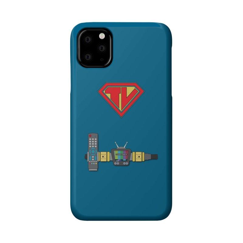 Super TV Man Accessories Phone Case by The Last Tsunami's Artist Shop