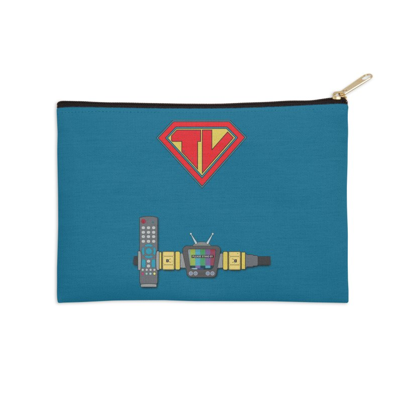 Super TV Man Accessories Zip Pouch by The Last Tsunami's Artist Shop
