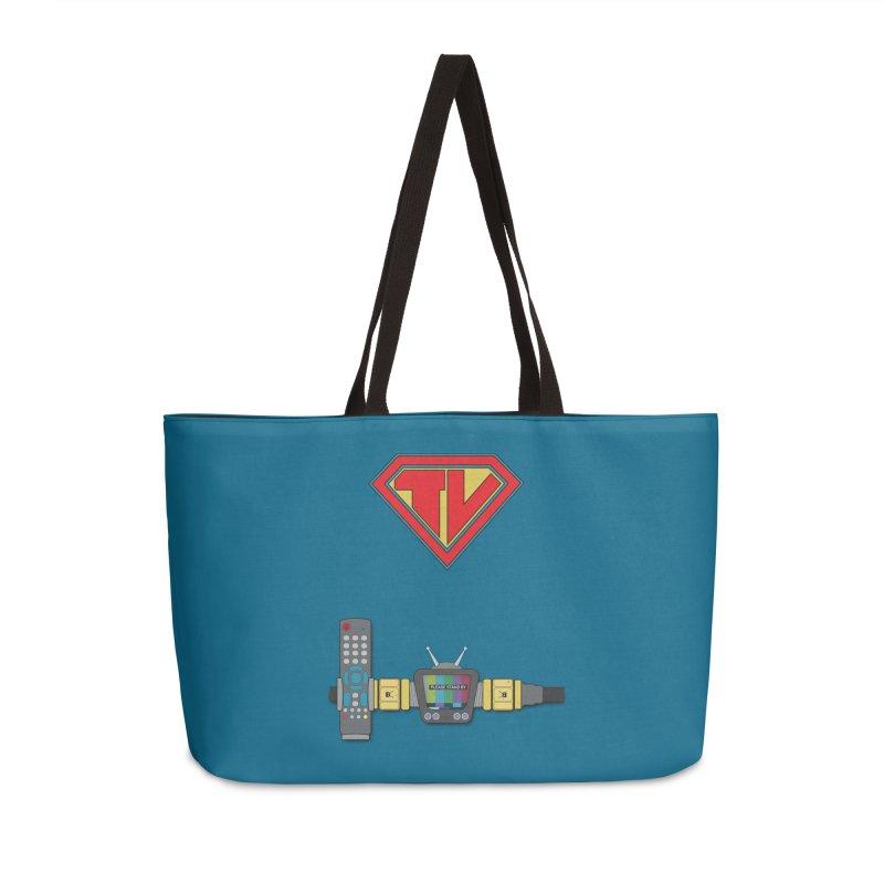 Super TV Man Accessories Weekender Bag Bag by The Last Tsunami's Artist Shop
