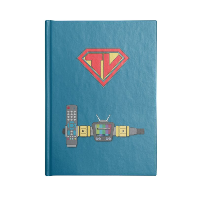 Super TV Man Accessories Blank Journal Notebook by The Last Tsunami's Artist Shop