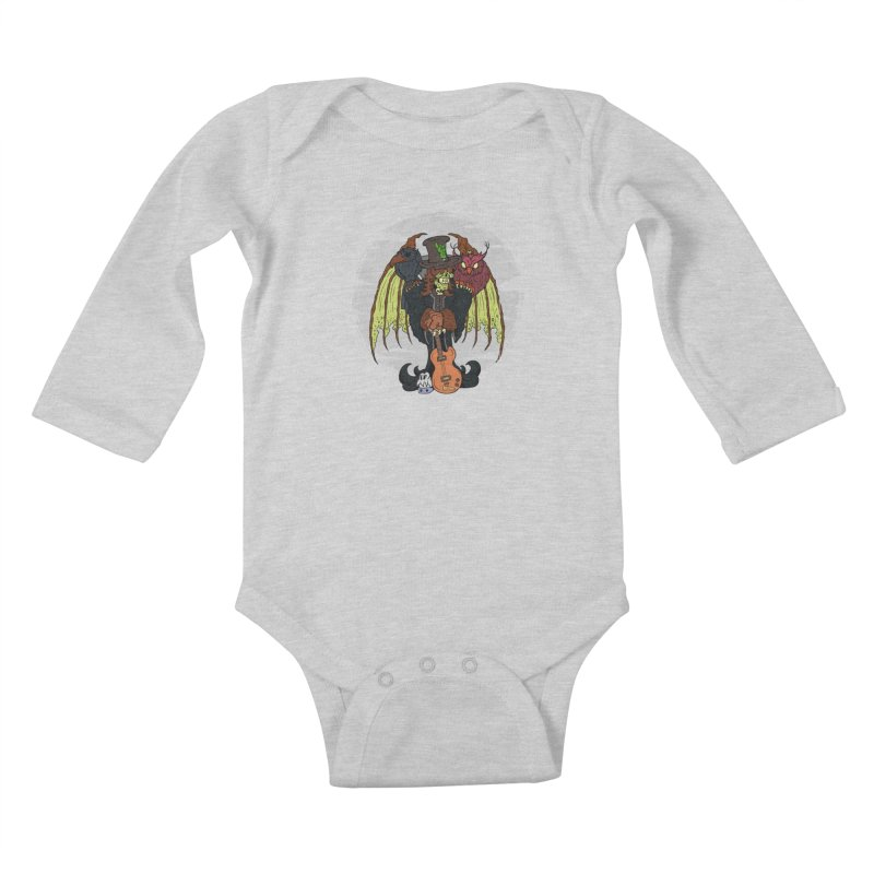 The Wise And The Trickster Kids Baby Longsleeve Bodysuit by The Last Tsunami's Artist Shop