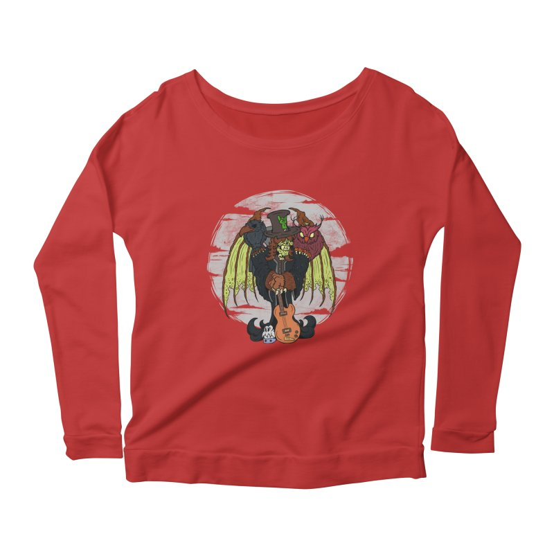 The Wise And The Trickster Women's Longsleeve Scoopneck  by The Last Tsunami's Artist Shop