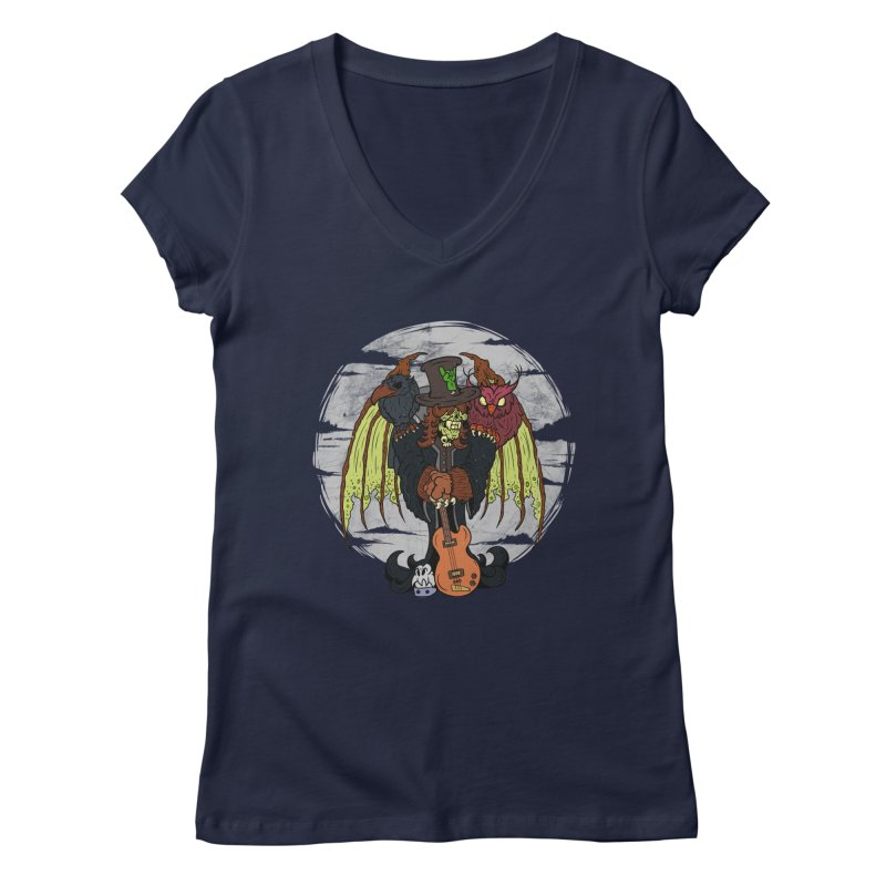 The Wise And The Trickster Women's V-Neck by The Last Tsunami's Artist Shop