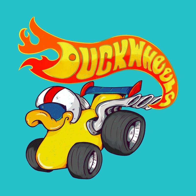 DuckWheels Kids Baby T-Shirt by The Last Tsunami's Artist Shop