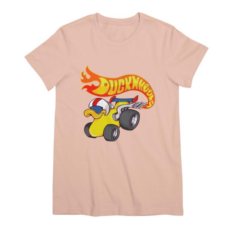 DuckWheels Women's Premium T-Shirt by The Last Tsunami's Artist Shop
