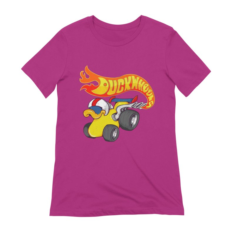 DuckWheels Women's Extra Soft T-Shirt by The Last Tsunami's Artist Shop