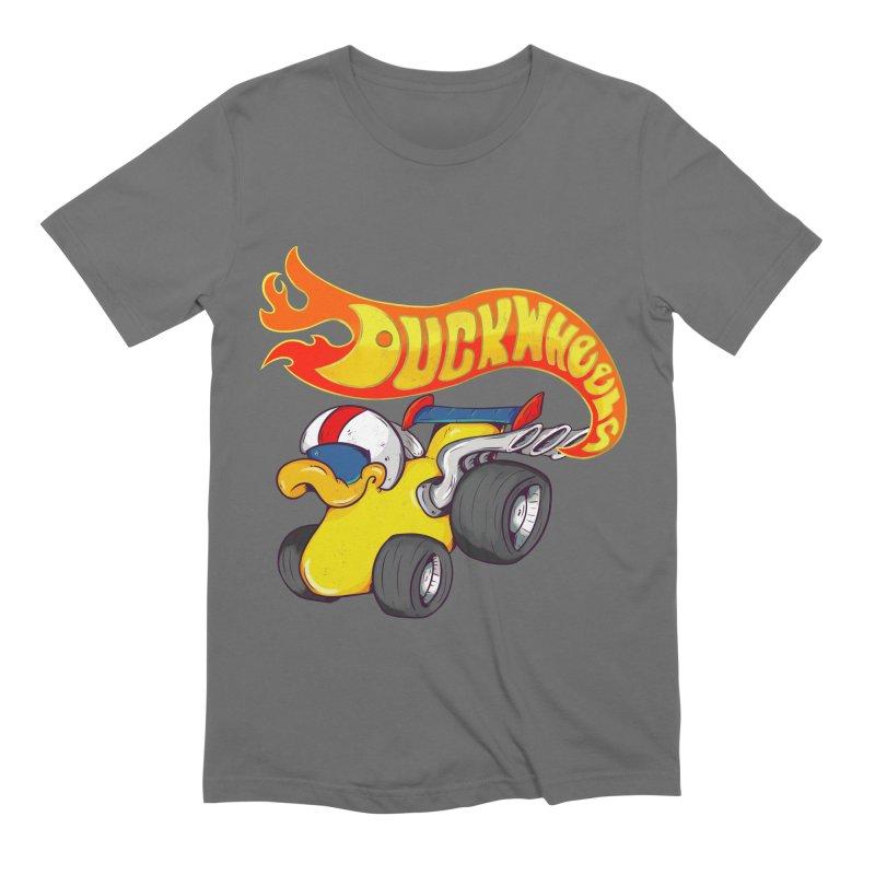 DuckWheels Men's Extra Soft T-Shirt by The Last Tsunami's Artist Shop