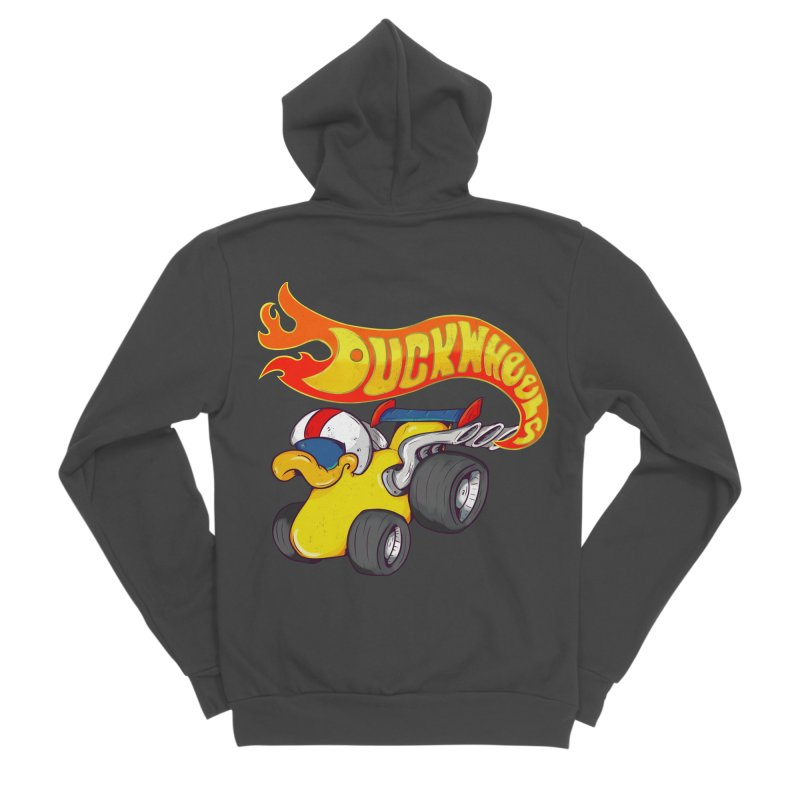 DuckWheels Women's Sponge Fleece Zip-Up Hoody by The Last Tsunami's Artist Shop