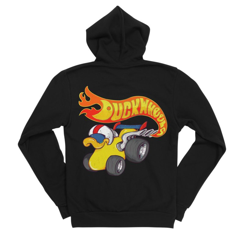 DuckWheels Men's Sponge Fleece Zip-Up Hoody by The Last Tsunami's Artist Shop
