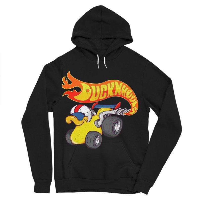 DuckWheels Men's Sponge Fleece Pullover Hoody by The Last Tsunami's Artist Shop