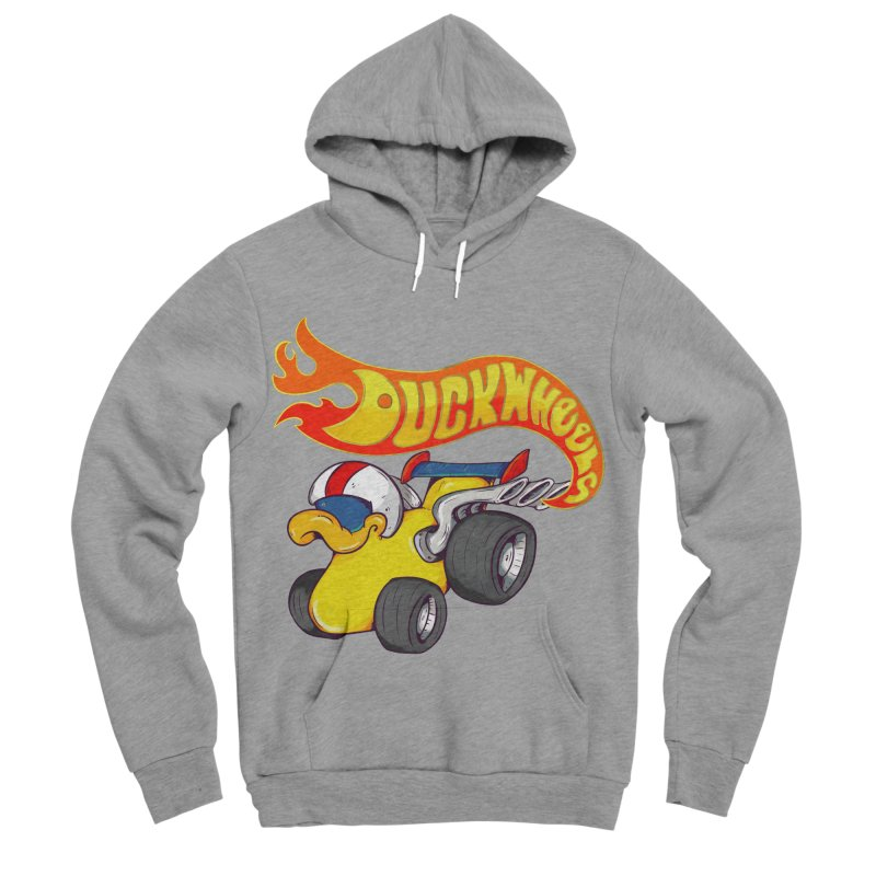 DuckWheels Men's Sponge Fleece Pullover Hoody by The Last Tsunami's Artist Shop