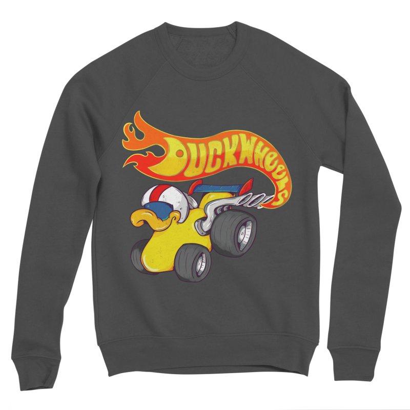 DuckWheels Women's Sponge Fleece Sweatshirt by The Last Tsunami's Artist Shop